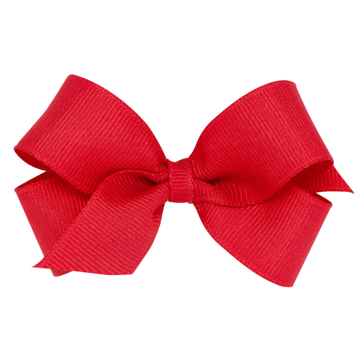 Mini Grosgrain Bow - Red-Accessories-WeeOnes-So & Sew Boutique