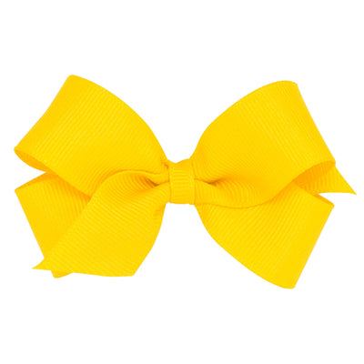 Mini Grosgrain Bow - Yellow-Accessories-WeeOnes-So & Sew Boutique