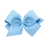 Organza Overlay Bow - French Blue-Accessories-WeeOnes-So & Sew Boutique