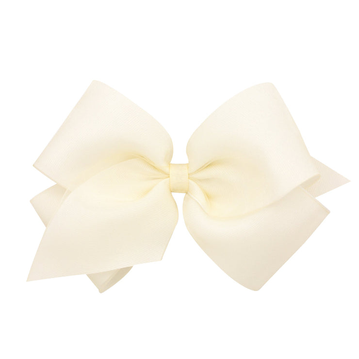 Organza Overlay Bow - Off White-Accessories-WeeOnes-So & Sew Boutique