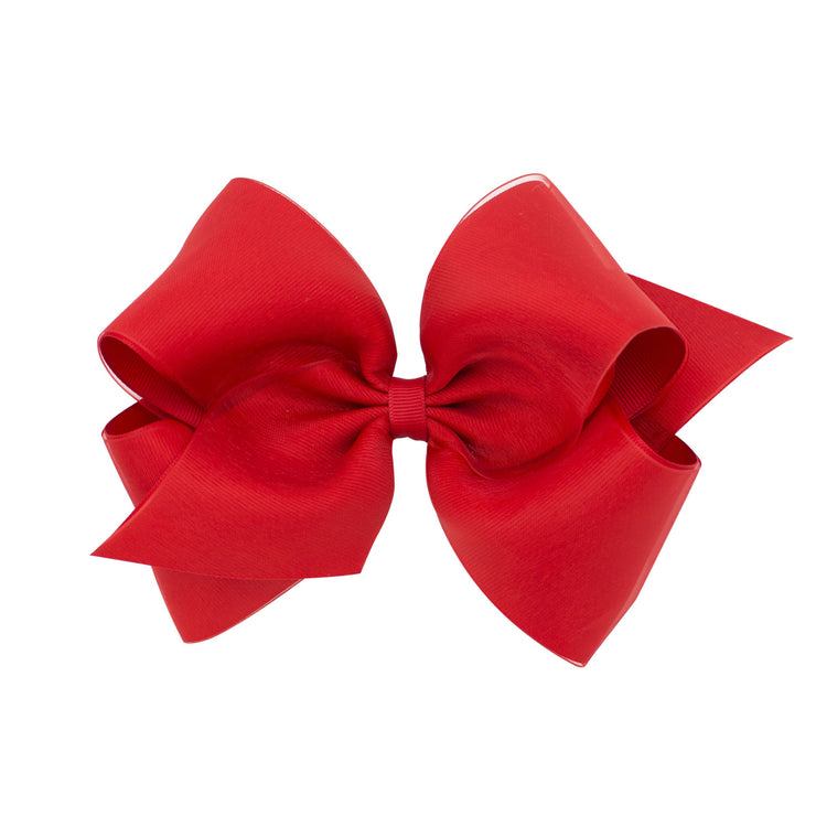 Organza Overlay Bow - Red-Accessories-WeeOnes-So & Sew Boutique