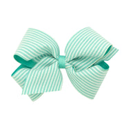 Seersucker Overlay Bow - Mint-Accessories-WeeOnes-So & Sew Boutique