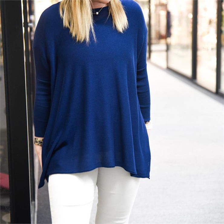 Spring Sweater - Navy-Apparel-MSC-So & Sew Boutique