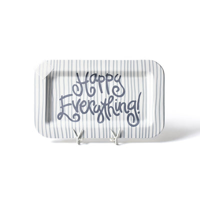 Stone Skinny Stripe Mini Happy Everything! Rectangle Platter-Housewares-Coton Colors-So & Sew Boutique