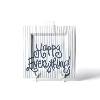 Stone Stripe Big Happy Everything! Square Platter-Housewares-Coton Colors-So & Sew Boutique