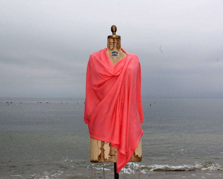 Topper Shawl - Coral-Apparel-A Soft Idea-So & Sew Boutique