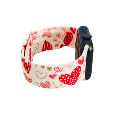 Valentine Hearts Apple Watch Band-Accessories-Prissy Plates Gifts & More-So & Sew Boutique