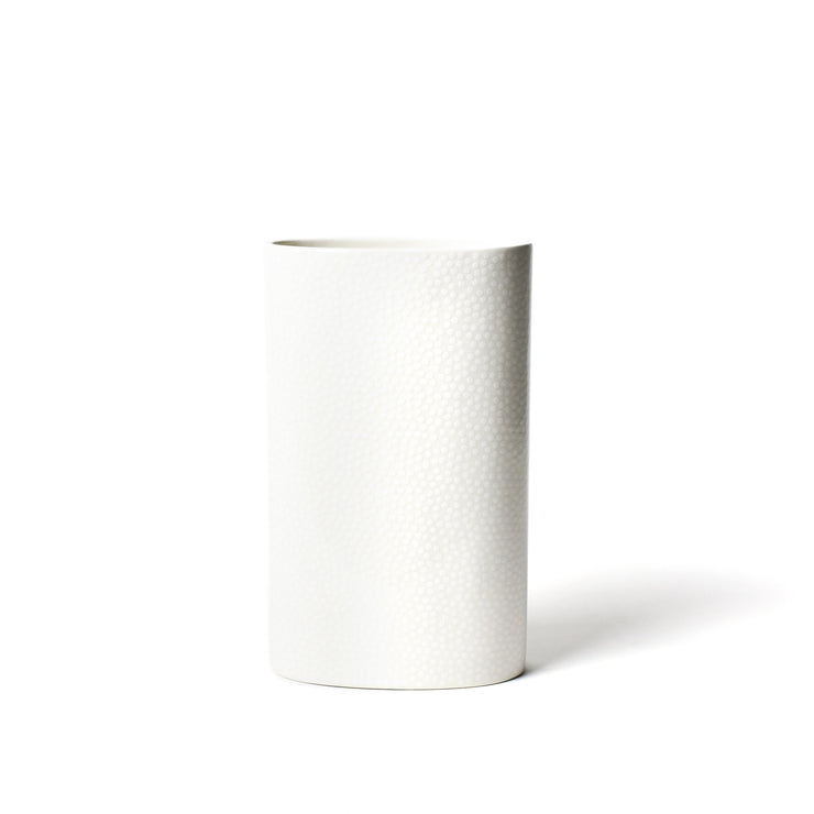 White Small Dot Big Oval Vase-Home Decor-Coton Colors-So & Sew Boutique