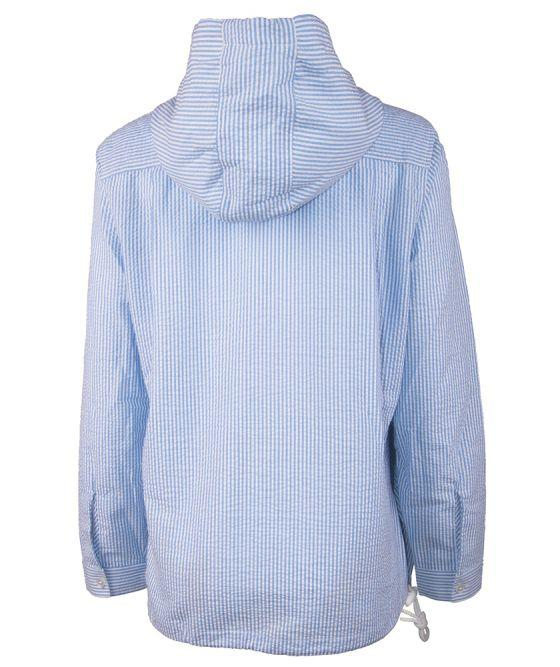 Women's Bar Harbor Pullover - Blue-Outerwear-Charles River Apparel-So & Sew Boutique