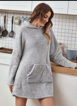 Adult Oversized Sherpa Hoodie