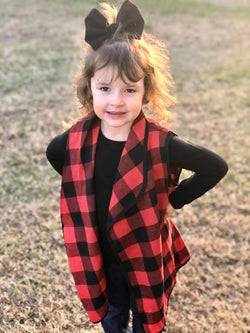 Buffalo Plaid Toddler Vest