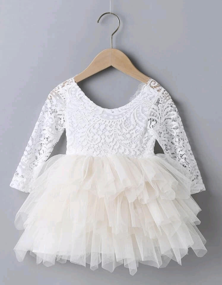Lace Top Tulle Dress