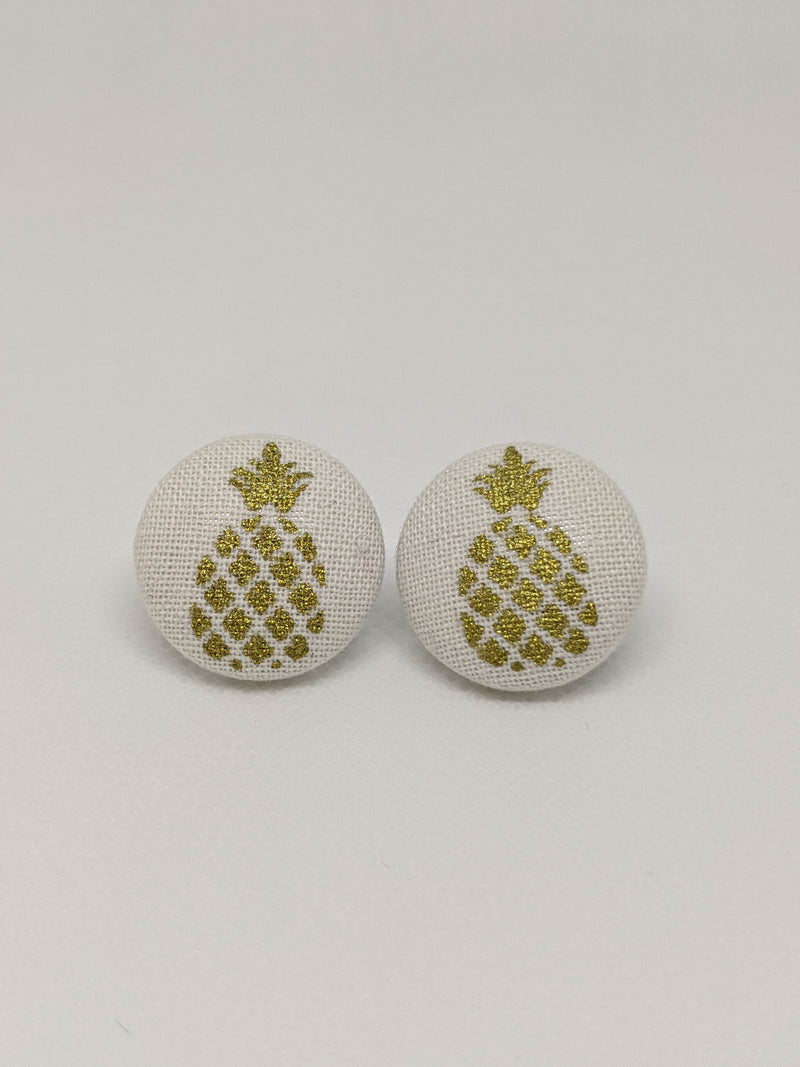 Gold Pineapple Earrings - The Raven Nest Boutique