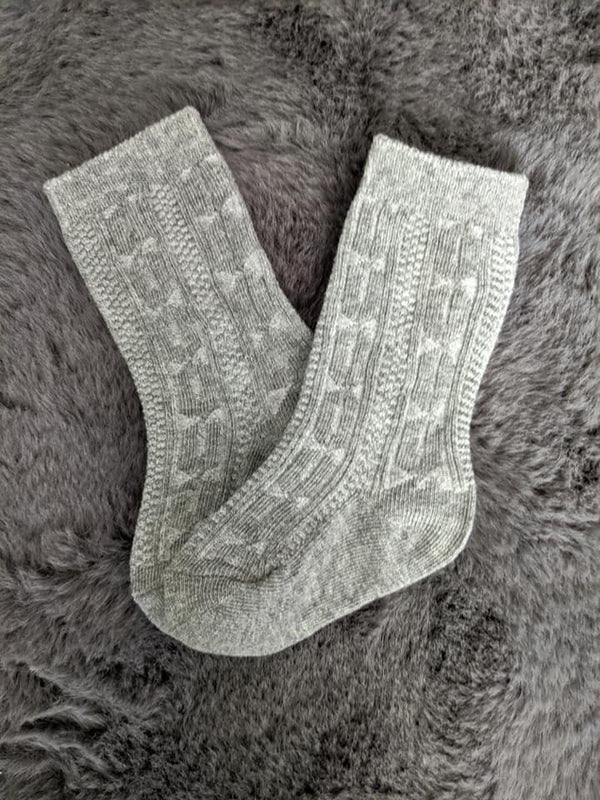 Heather Gray Knee High Socks