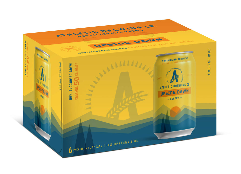 Athletic Brewing Co Upside Dawn Golden Ale 6x355mL | Craftzero