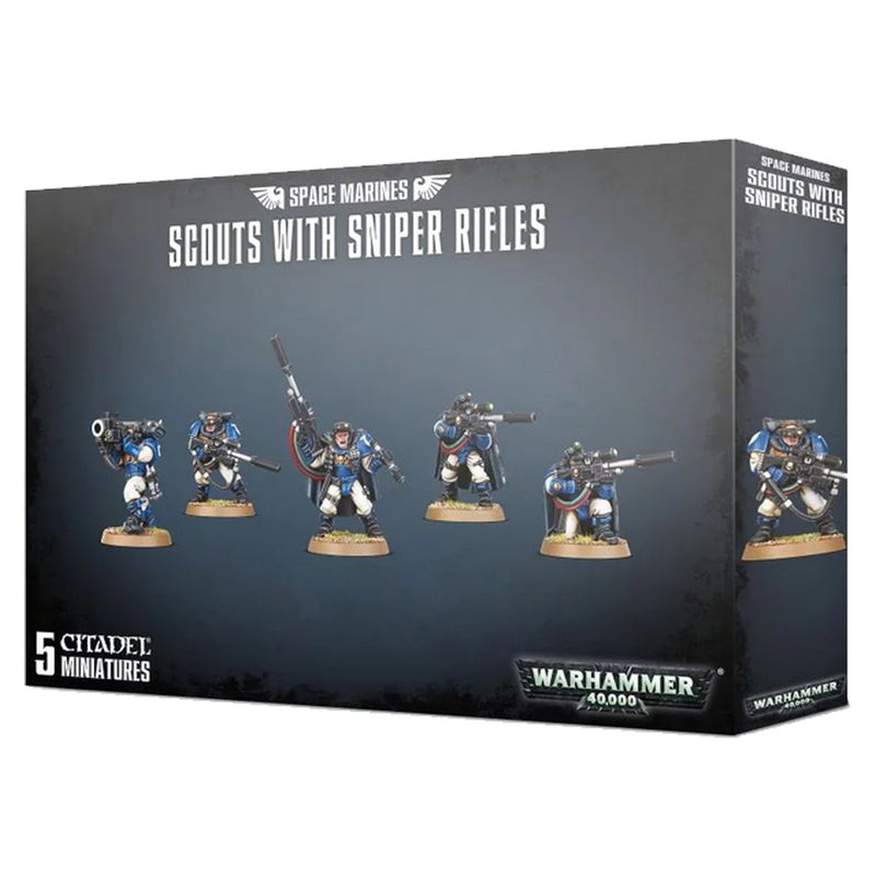 Warhammer Space Marine Scouts With Sniper Rifles