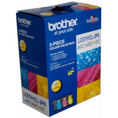 Brother 67 Colour Pack High Yield Ink Cartridge