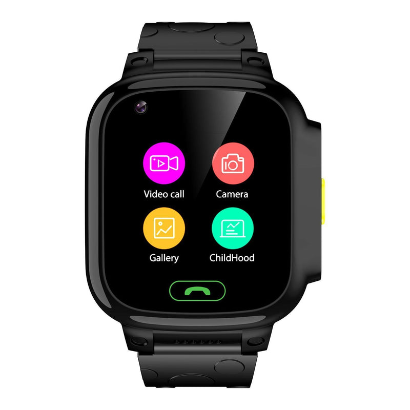 Kidocall - 4G Smartwatch, Phone & GPS tracking for Kids - Black