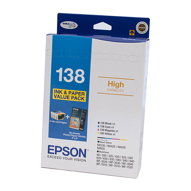 Epson 138 Bundle Vale Pack Ink Cartridge (4 Inks)