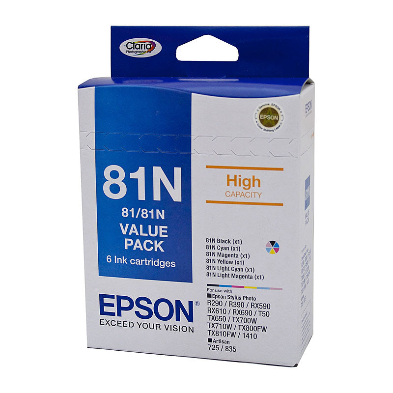 Epson 81 Value Pack (All 6 colours Ink Cartridges)