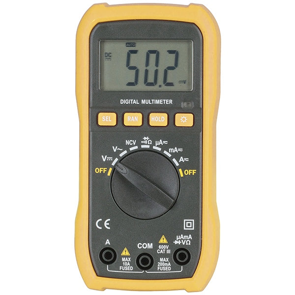 DIGITECH Autorange Multimeter with Non-Contact Voltage Sensor