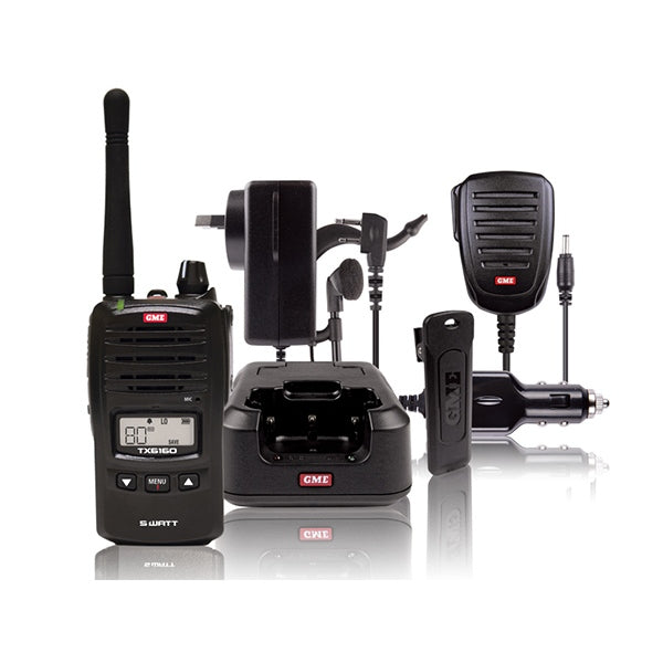 GME 5 Watt UHF CB Handheld Radio - Twin Pack