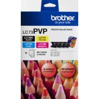 Brother 73 PVP Photo Value Pack Ink Cartridge (4 Colour+40x Photo Paper)