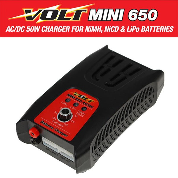 VOLT Mini 650AC Multi-Function AC/DC 50W Battery Charger