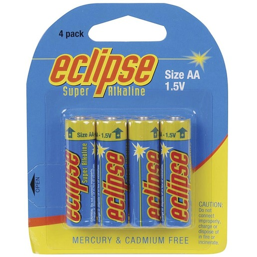 AA Alkaline - Eclipse Batteries - Pk. 4
