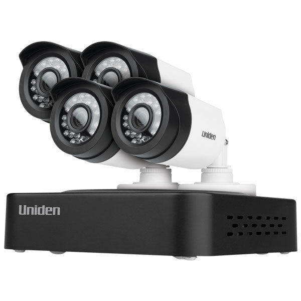 UNIDEN Super Compact  4 Channel 1080P Full HD Recorder with 4 Cameras