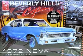 BLUE CHEVY NOVA' - BEVERLY HILLS COP CAR RETURNS IN 1:25 SCALE FROM AMT