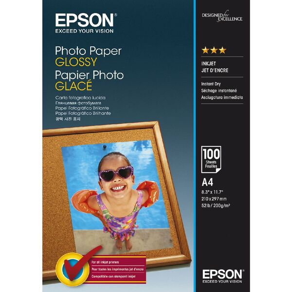 Epson Glossy Photo Paper (A4 20 Sheets 194gsm)