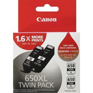 Canon 650XL Black Twin Value Pack Ink Cartridge