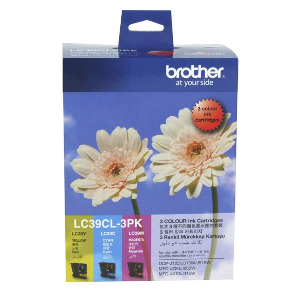 Brother LC39 3 Colour Pack Ink Cartridges (C,M,Y)