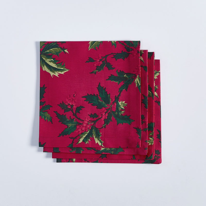 Winter Berry Napkins - Set of 4