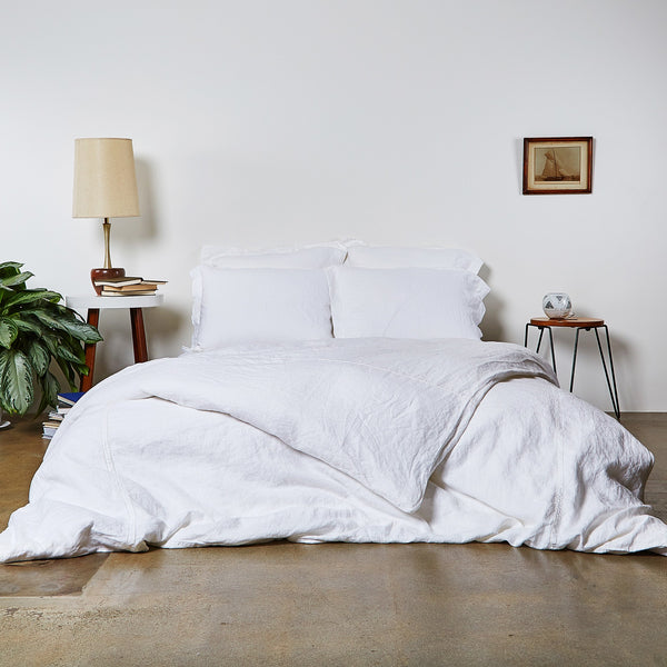 Linen Duvet Cover with Hemstitch