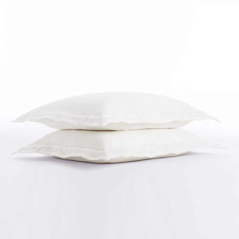 Linen Pillow Sham with Grosgrain Ribbon