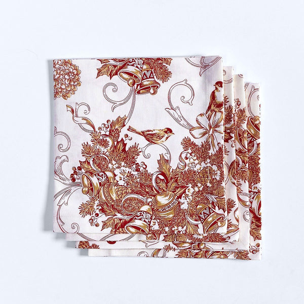 Holiday Toile Napkins - Set of 4