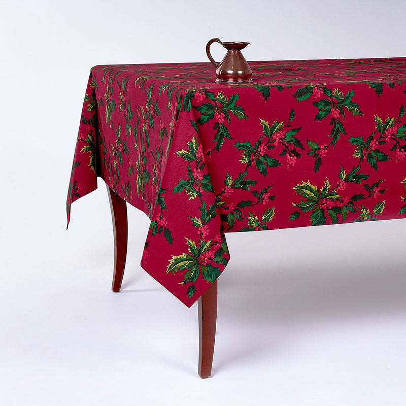 Holly Print Tablecloth