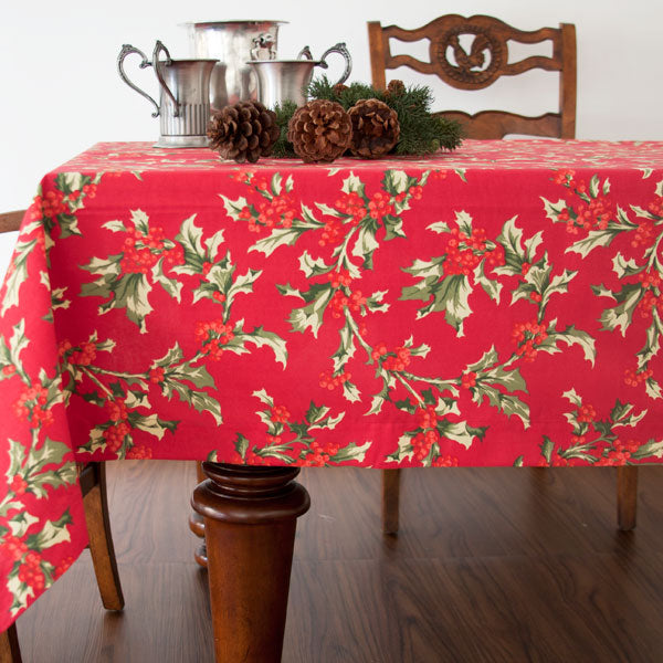 Winter Berry Tablecloth