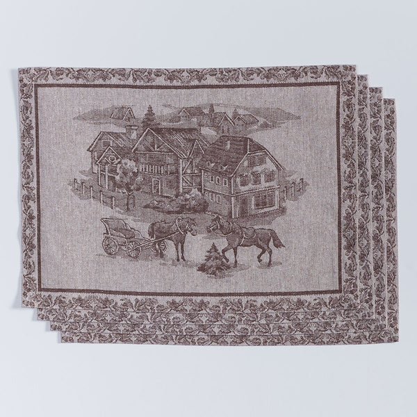 American Village Jacquard Placemats - Set of 4