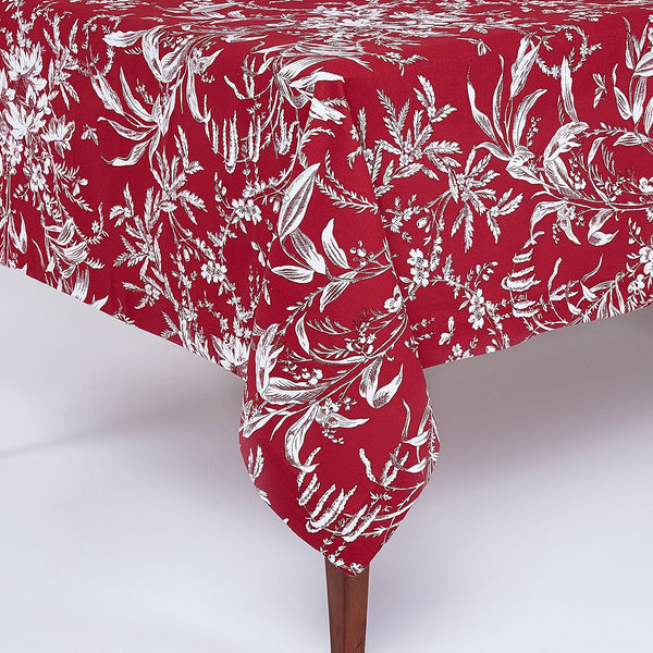 Floral Toile Tablecloth
