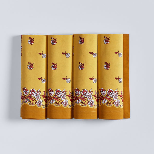 French Flowers Napkins - Set of 4