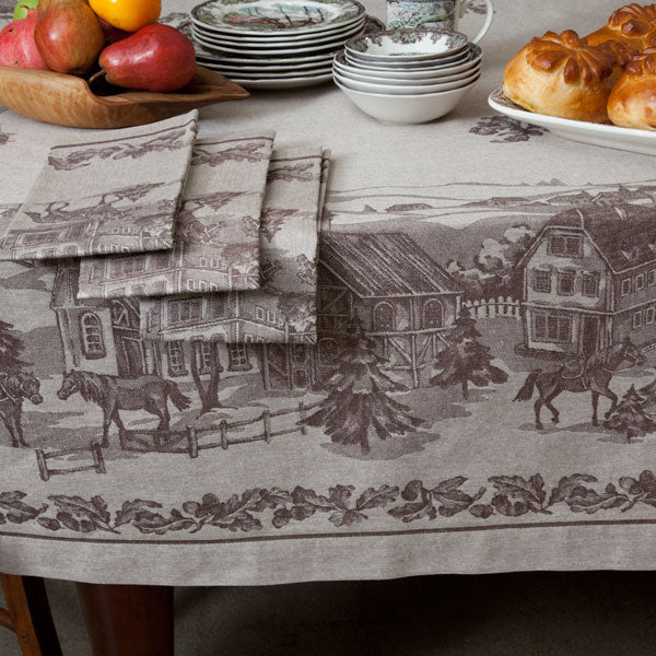 American Village Jacquard Tablecloth