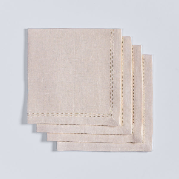 Double Hemstitched Napkins - Set of 4