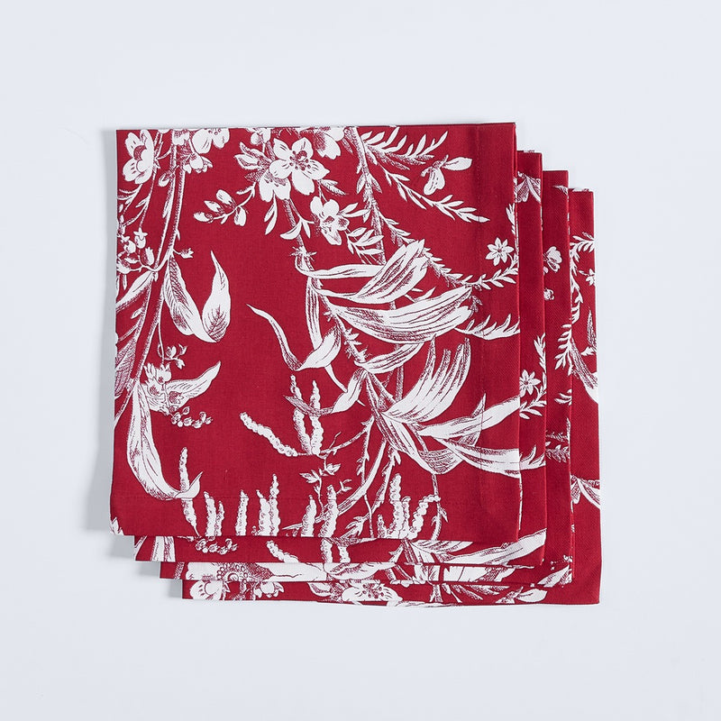Floral Toile Napkin - Set of 4