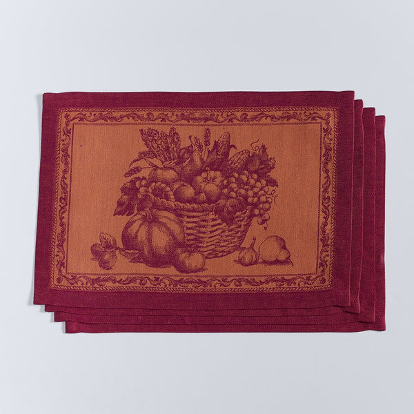 Harvest Basket Jacquard Placemats - Set of 4
