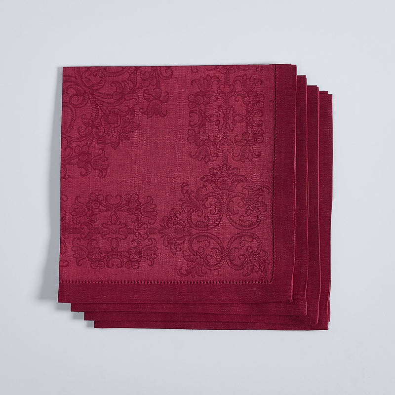 Damask Jacquard Napkins - Set of 4