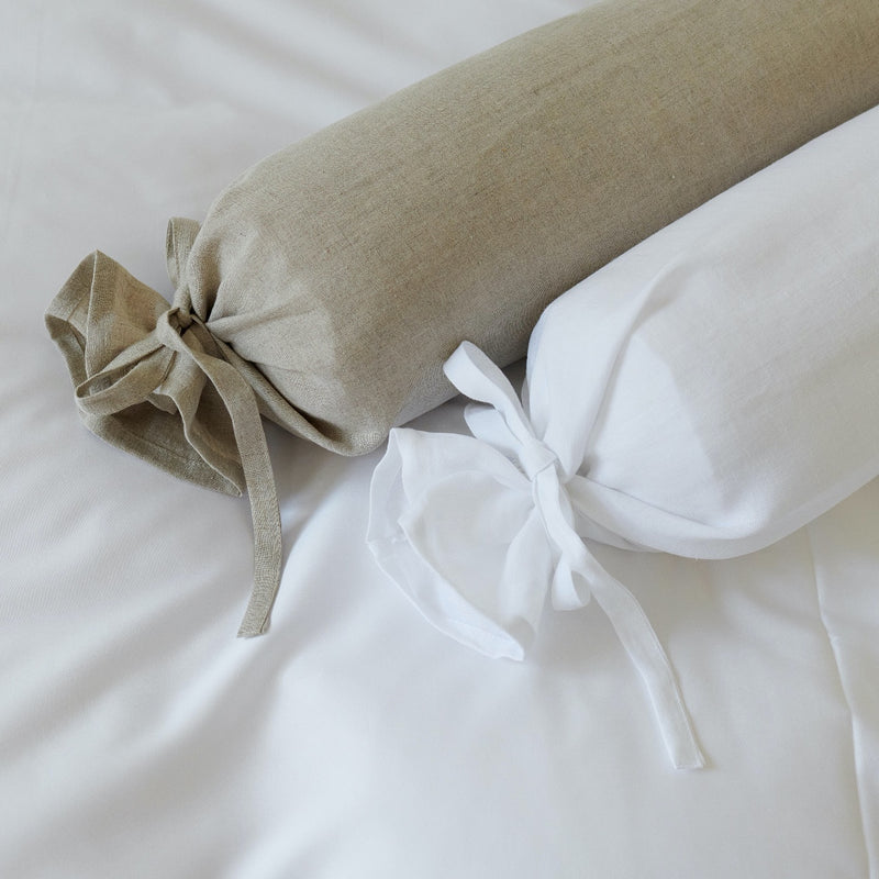 Bed Linen Linen Stonewashed, Neck Roll Cover