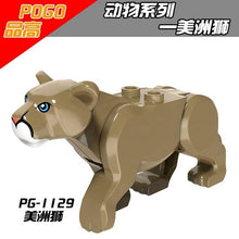 Carica l'immagine nel visualizzatore di Gallery, Legoing Animals Tiger leopard Elephant Wolf Chimpanzee Shark Polar bear Whale Blocks Kids Toys Animal Legoings Figures Assemble